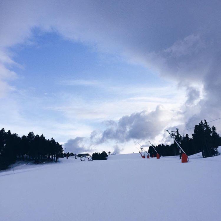 Sur la piste de ski - Les Angles