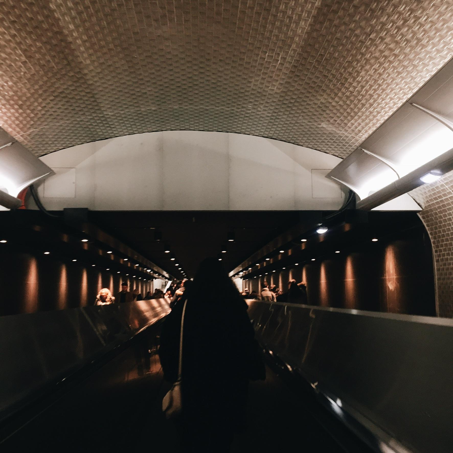 Dans le métro - Paris